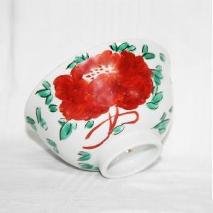 手描き 九谷焼 和洋食器 魯山人うつし 牡丹文様お茶碗|kutani-bitouen|03