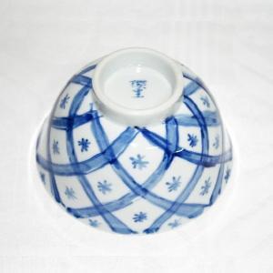 手描き 九谷焼 和洋食器 魯山人うつし 染付矢来文お茶碗|kutani-bitouen|04