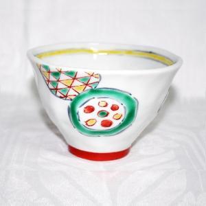 手描き 九谷焼 和洋食器 手起し丸紋様お茶碗|kutani-bitouen