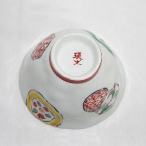 手描き 九谷焼 和洋食器 手起し丸紋お茶碗|kutani-bitouen|06