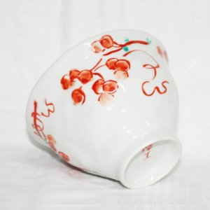 手描き 九谷焼 和洋食器 手起し山帰来文様お茶碗|kutani-bitouen|04