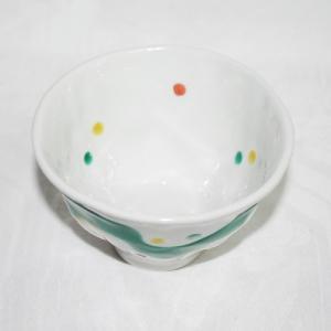 手描き 九谷焼 和洋食器 手起し水玉よろけお茶碗|kutani-bitouen|02