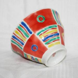 手描き 九谷焼 和洋食器 手起しメキシカン文お茶碗|kutani-bitouen|03