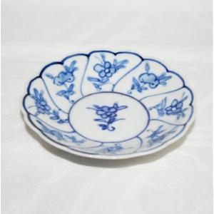 手描き 九谷焼 和洋食器 染付なずな文三寸皿 kutani-bitouen