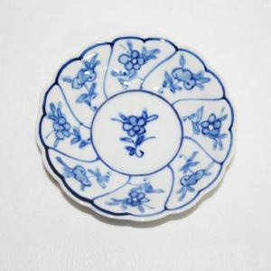 手描き 九谷焼 和洋食器 染付なずな文三寸皿 kutani-bitouen 02