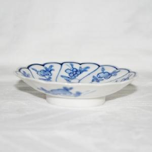 手描き 九谷焼 和洋食器 染付なずな文三寸皿 kutani-bitouen 03