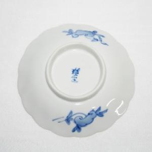手描き 九谷焼 和洋食器 染付なずな文三寸皿 kutani-bitouen 04