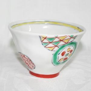 手描き 九谷焼 和洋食器 手起し丸紋様お茶碗(小)|kutani-bitouen