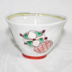 手描き 九谷焼 和洋食器 手起し丸紋お茶碗(小)|kutani-bitouen|02