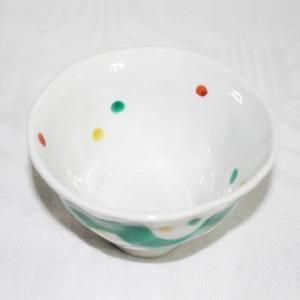 手描き九谷焼 和洋食器 手起し水玉よろけ文様お茶碗(小)|kutani-bitouen|02