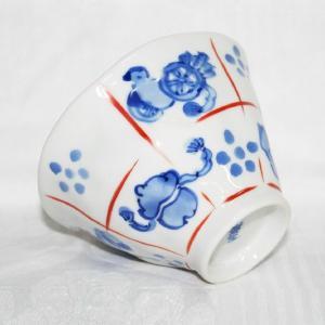 手描き 九谷焼 和洋食器 手起し道具づくし文お茶碗(小) kutani-bitouen 04