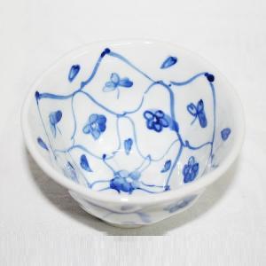 手描き 九谷焼 和洋食器 手起し網目花文様お茶碗(小)|kutani-bitouen|02