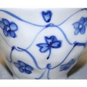 手描き 九谷焼 和洋食器 手起し網目花文様お茶碗(小)|kutani-bitouen|04