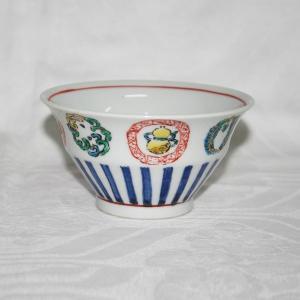 手描き 九谷焼 和洋食器 丸紋づくし文様お茶碗|kutani-bitouen