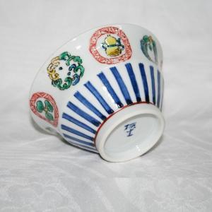 手描き 九谷焼 和洋食器 丸紋づくし文様お茶碗|kutani-bitouen|03