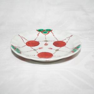 手描き 九谷焼 和洋食器 赤玉文四寸皿|kutani-bitouen