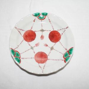 手描き 九谷焼 和洋食器 赤玉文四寸皿|kutani-bitouen|02