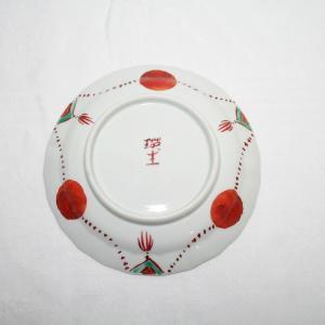 手描き 九谷焼 和洋食器 赤玉文四寸皿|kutani-bitouen|03
