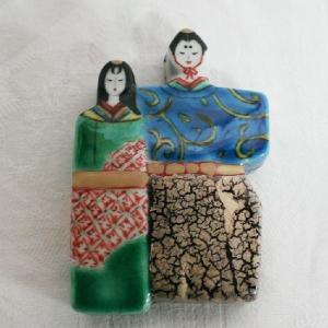 手書き 九谷焼 雛形香合|kutani-bitouen