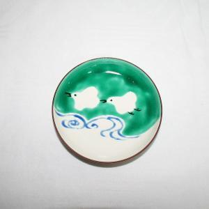 手描き 九谷焼 和洋食器 絵変千鳥文三.五寸皿|kutani-bitouen|03