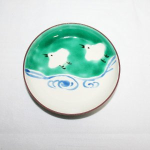 手描き 九谷焼 和洋食器 絵変千鳥文三.五寸皿 kutani-bitouen 04