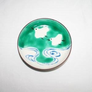 手描き 九谷焼 和洋食器 絵変千鳥文三.五寸皿 kutani-bitouen 05