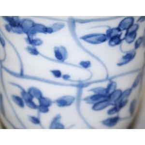 手描き 九谷焼 和洋食器 染付なずな文様湯呑|kutani-bitouen|05