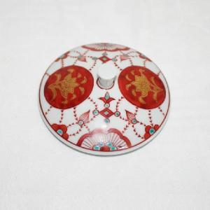 手描き 九谷焼 和食器 皇太子殿下お買い上げ 金襴手瓔珞文様湯呑|kutani-bitouen|06