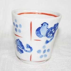 手描き 九谷焼 和洋食器 手起し道具づくし文様湯呑|kutani-bitouen