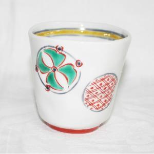 手描き 九谷焼 和洋食器 手起し丸紋様湯呑|kutani-bitouen|02