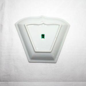 手描き 九谷焼 和洋食器 ペルシャポット文扇形皿(青)|kutani-bitouen|04