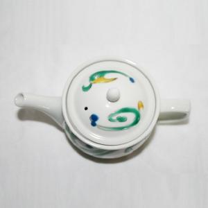 手描き 九谷焼 和洋食器 色絵ペルシャ唐草ポット|kutani-bitouen|05