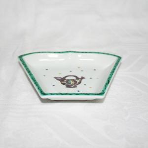手描き 九谷焼 和洋食器 ペルシャポット文様扇形皿(紫)|kutani-bitouen|03