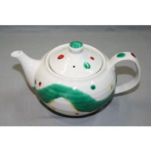 九谷焼 手描き 和洋食器 水玉よろけ文様ポット|kutani-bitouen|04