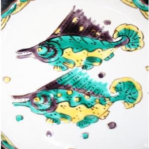 手描き 九谷焼 和洋食器 魯山人うつし 双魚文五寸皿 kutani-bitouen 03