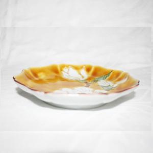 手描き 九谷焼 和洋食器 黄地白花文五寸皿|kutani-bitouen|02