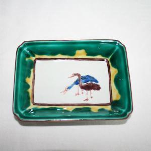 手描き 九谷焼 九谷焼 和洋食器 古九谷手絵変り長形皿 kutani-bitouen 04