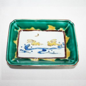 手描き 九谷焼 九谷焼 和洋食器 古九谷手絵変り長形皿 kutani-bitouen 06