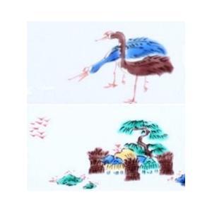 手描き 九谷焼 九谷焼 和洋食器 古九谷手絵変り長形皿 kutani-bitouen 07