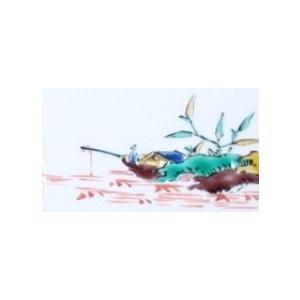 手描き 九谷焼 九谷焼 和洋食器 古九谷手絵変り長形皿 kutani-bitouen 09