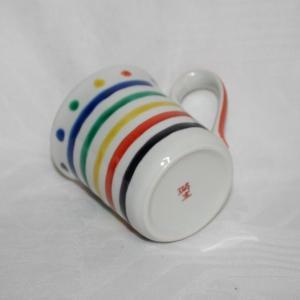 手描き 九谷焼  和洋食器 五彩横縞マグカップ kutani-bitouen 03