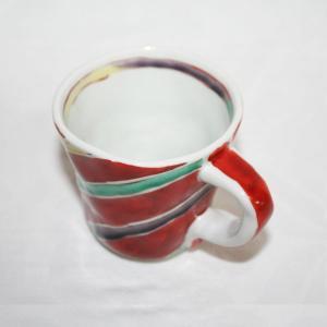 手描き 九谷焼 和洋食器 手起し間道文マグカップ|kutani-bitouen|02