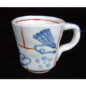 手描き 九谷焼 和洋食器 手起し道具づくし文様マグカップ|kutani-bitouen