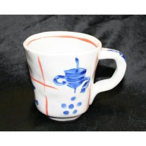 手描き 九谷焼 和洋食器 手起し道具づくし文様マグカップ|kutani-bitouen|03