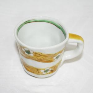 手描き 九谷焼 和洋食器 手起し梅花文マグカップ|kutani-bitouen|02