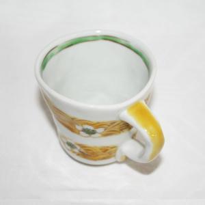 手描き 九谷焼 和洋食器 手起し梅花文マグカップ|kutani-bitouen|03