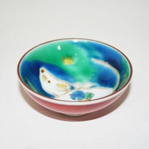 手描き 九谷焼 和食器 干支 青手「亥」文様盃 kutani-bitouen 02