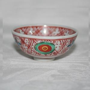 手描き 九谷焼 和食器 赤ごす福文盃|kutani-bitouen