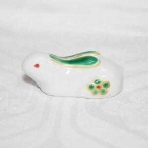 手描き 九谷焼 和食器 兎形箸置き|kutani-bitouen|02