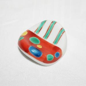 手描き 九谷焼 和洋食器 絵変り楕円形箸置|kutani-bitouen|02